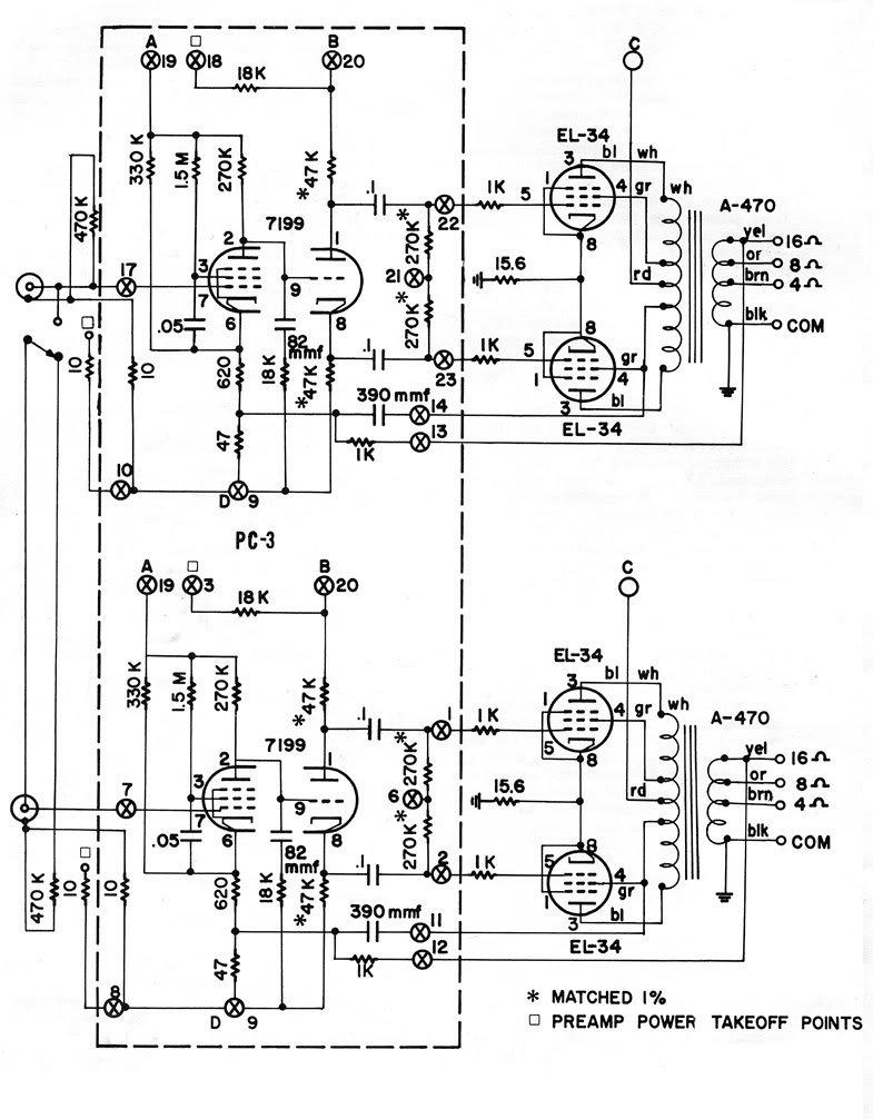 dynaco dynakit stereo 70 st70 el34  6ca7 tube amp amplifier